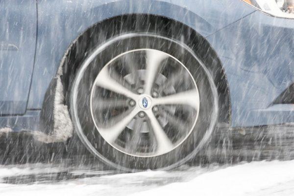 Spinning car wheel