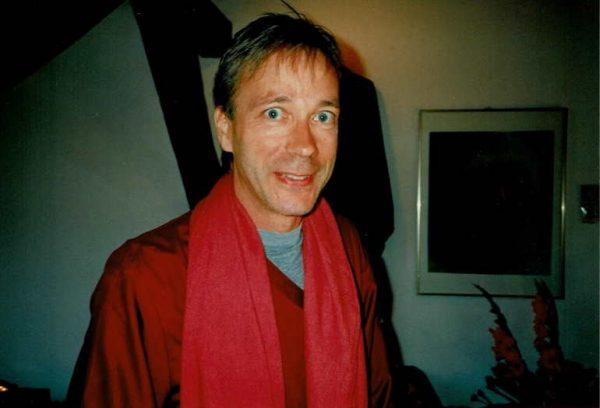 In maroon robe in 1997