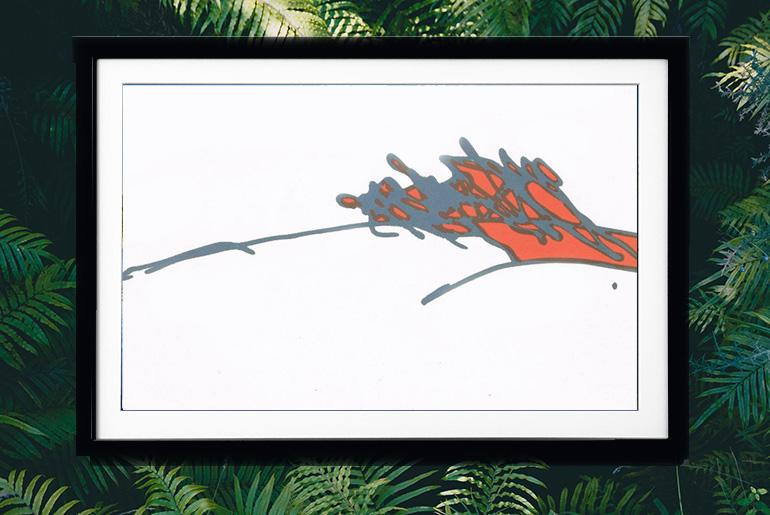 Osho's signature framed