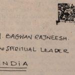 Letter addressed to Osho