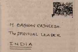 Letter addressed to Osho