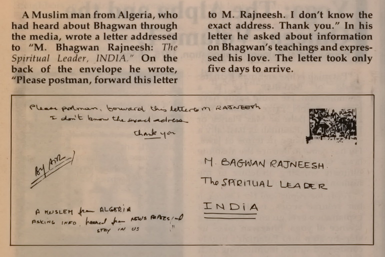 Letter to Osho