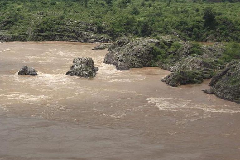 Narmada river flooding