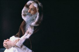 Osho with fur coat