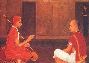 Shankara and Mandan Mishra
