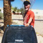 Srajan taking out trash