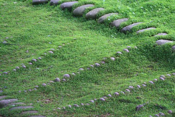 Zen pebble lawn