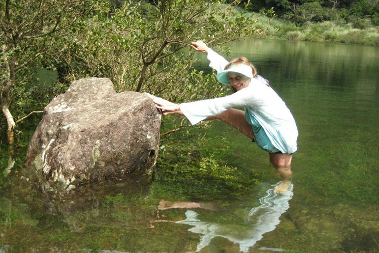 Navanita dancing in the water