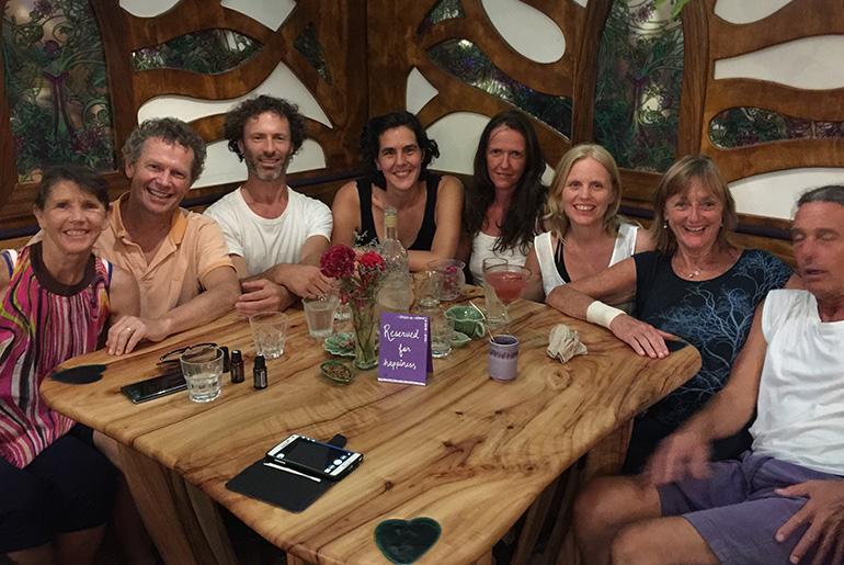 Navanita with Australian friends