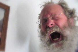 Old man yelling