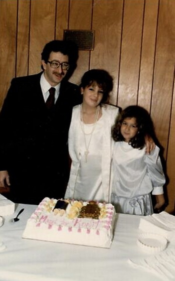 Ronit Plank with her father and sister