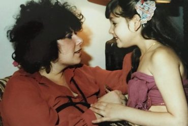 Ronit Plank with her mother