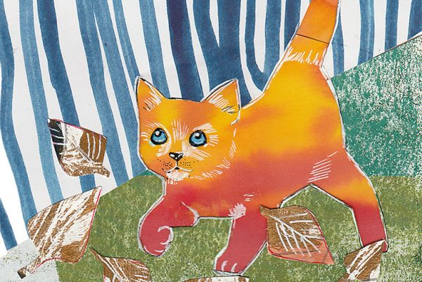 ginger cat by Kusum