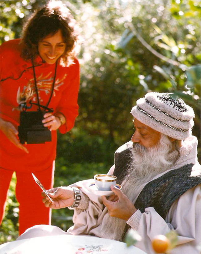 Anando with Osho in Greece