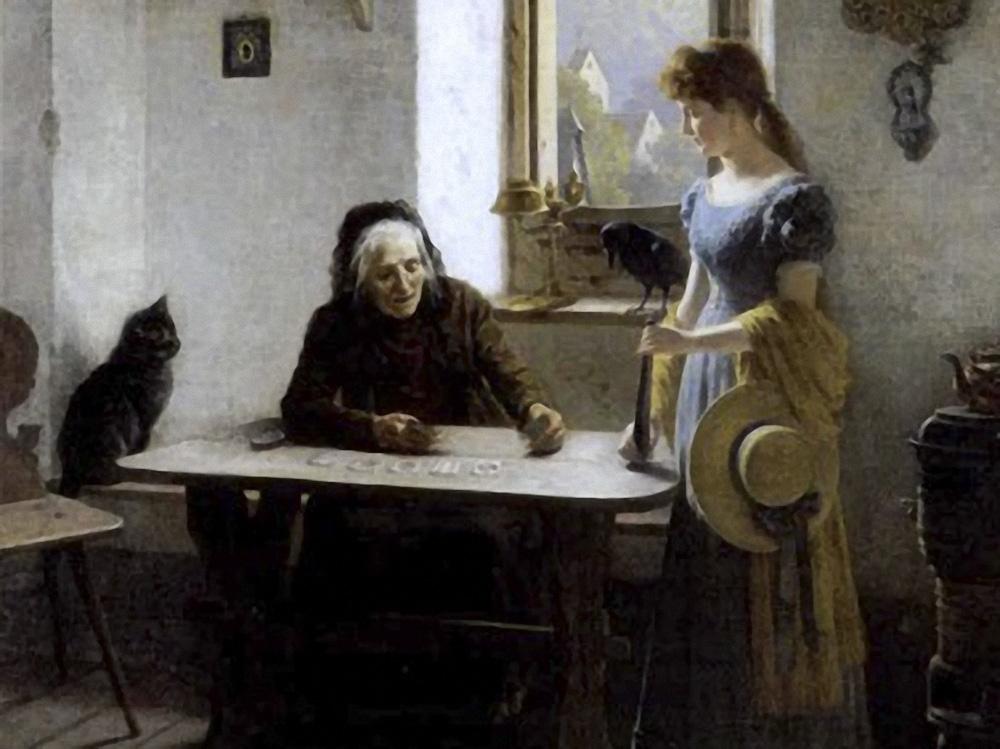 Ernst Bosch (1834-1917), The card reader