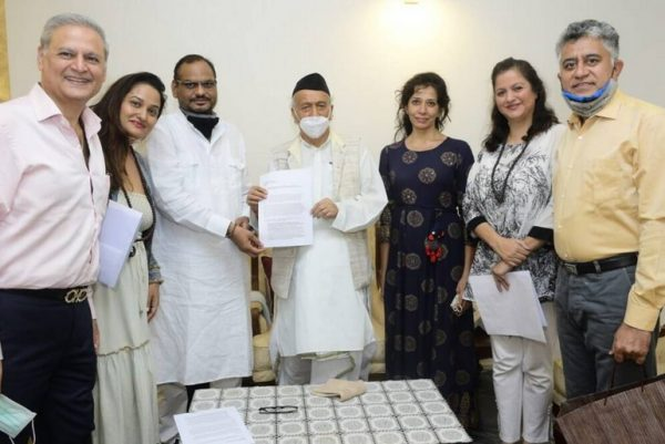 Osho disciples and Governor