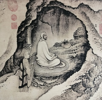 Bodhidharma in his cave