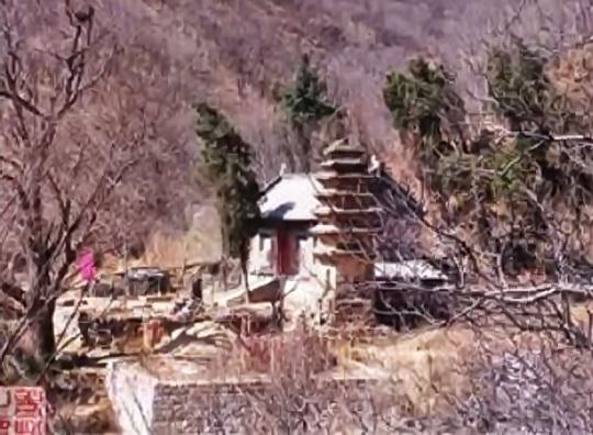 An old photo of Sosan's house on Mount Ta