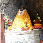Statue of Bodhidharma inside the Cave