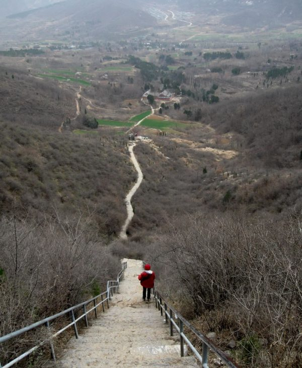 The way down; Chuzu temple in middle distance