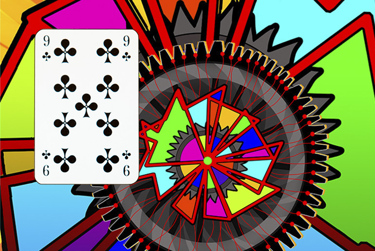 The Tarot of the Traveller: The 9 of Clubs