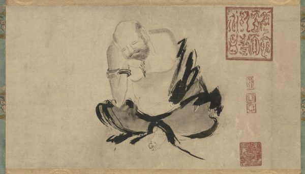 Huike contemplating. Painting attributed to Shi Ke (石恪, 10th century). Tokyo National Museum