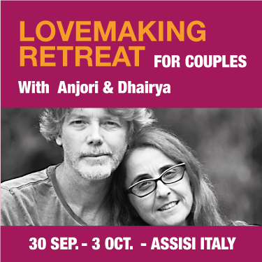 Lovemaking Retreat for couples 30 Sept - 3 Oct with Anjori and Dhairya