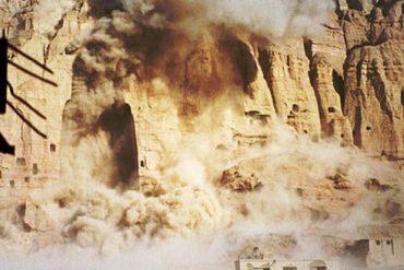 destruction of buddha statues