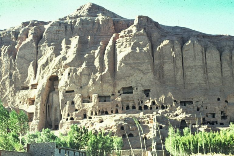 One of the Bamiyan statues: Sakyamuni