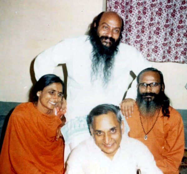 Osho with Manju, her husband Gulab, and Krishna Was taken in Jabalpur 1968