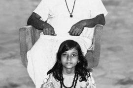 Pratiksha Apruv with grandparents