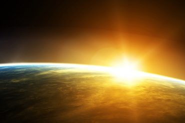 sunrise seen from space